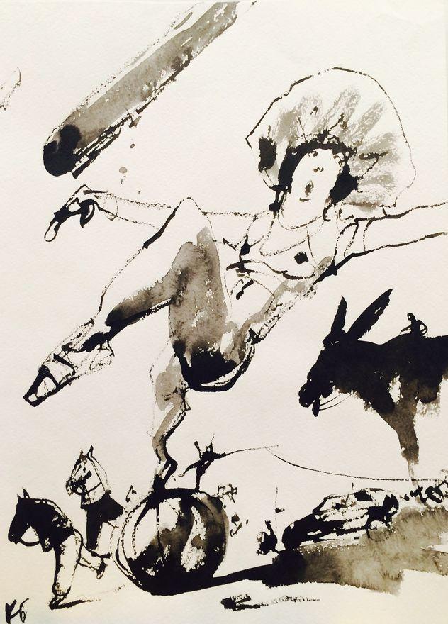 Консантин Батынков. Из серии Цирк.40х30.б.т.2010