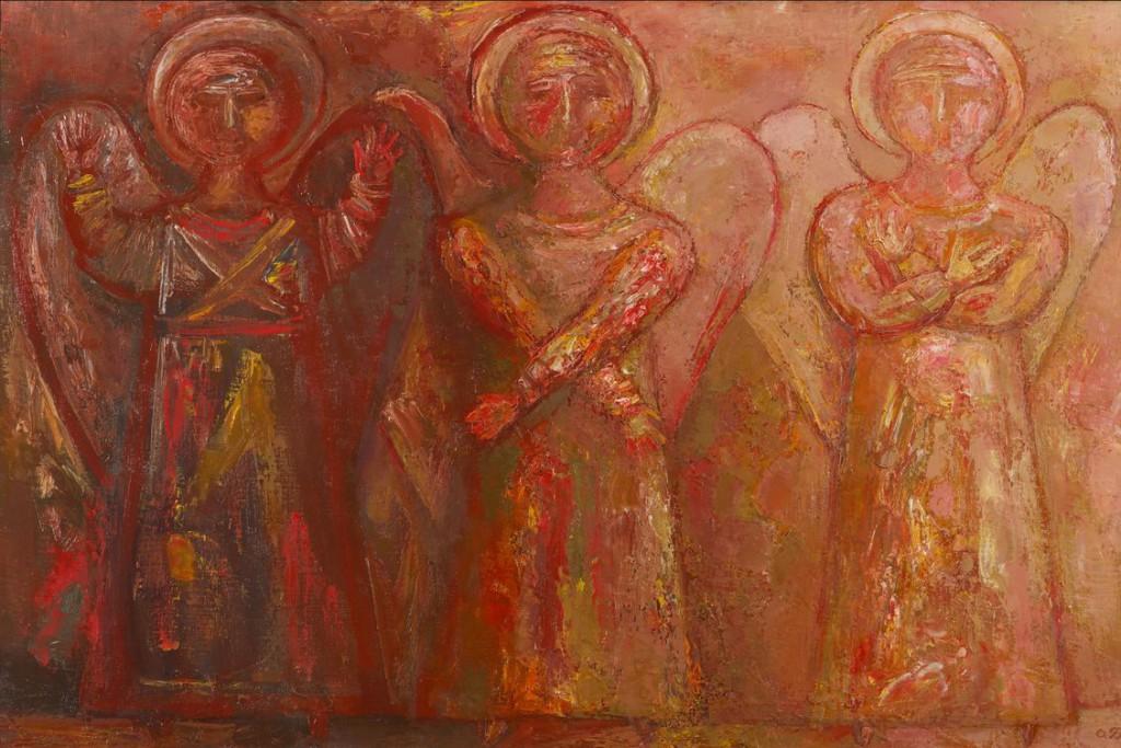 1. Ангелы любви, печали и надежды. 2006. Холст, масло. 60х90