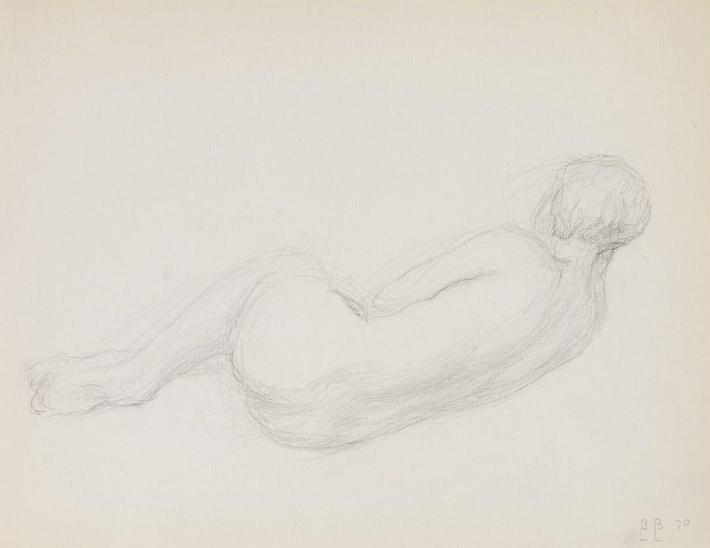 1. Обнаженная. 1970. Бумага, карандаш. 24,5х32