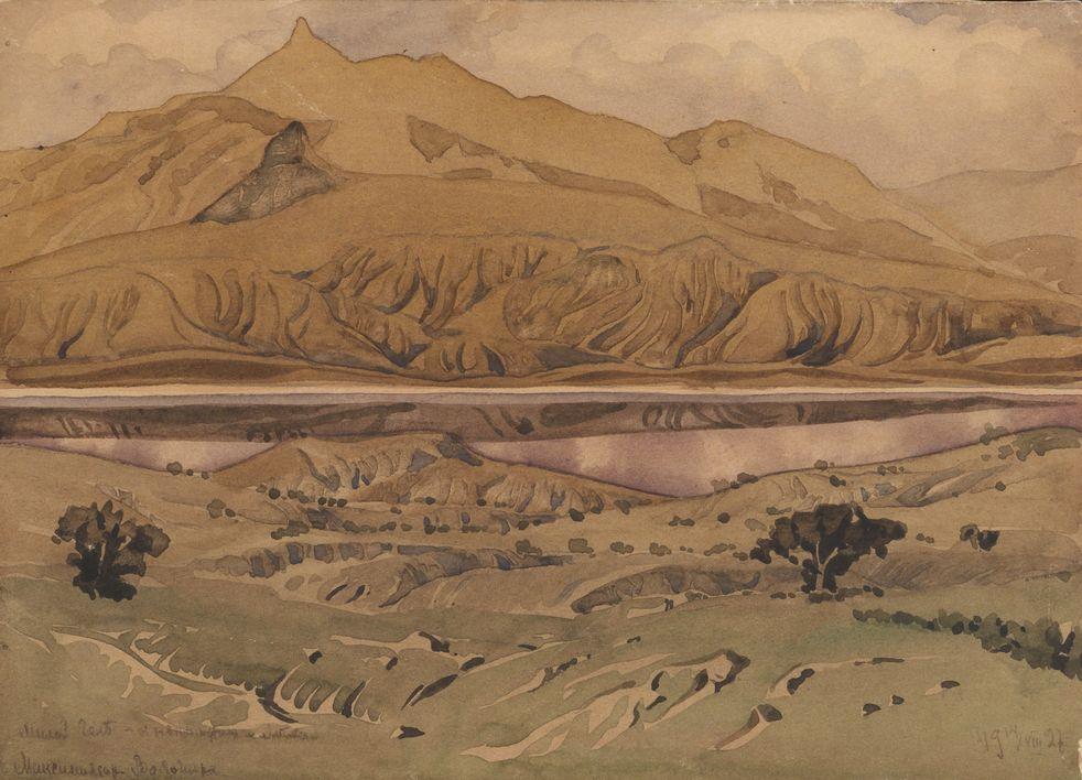 1. Предгорья. 1927. Бумага, акварель. 17,2х23,7