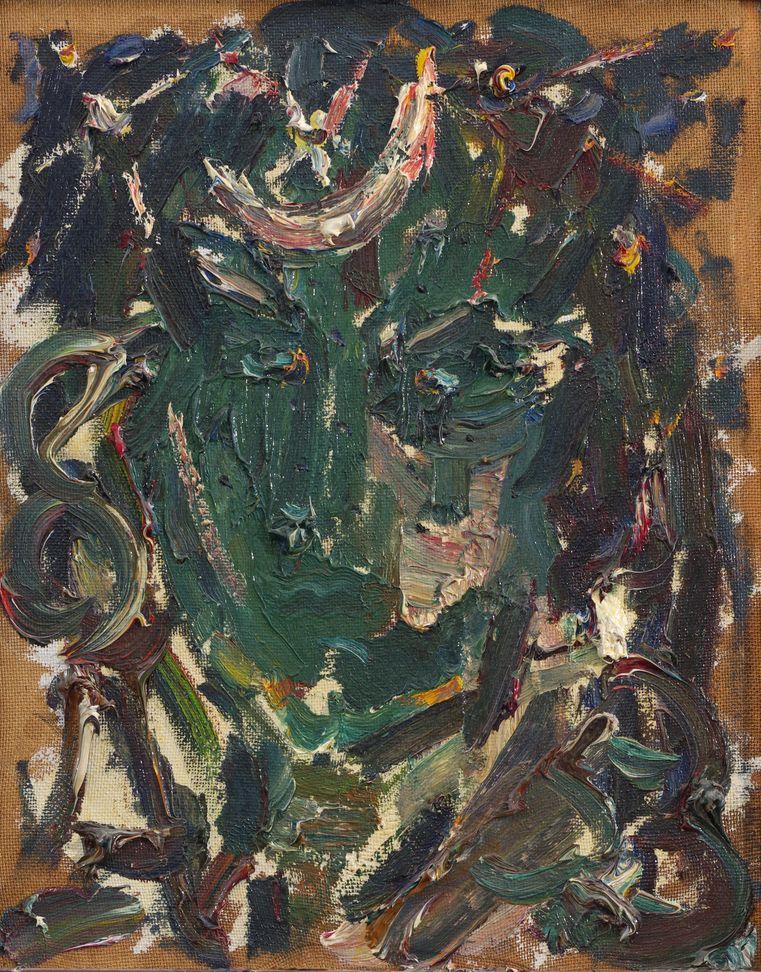 10. Берендеева ночь (портрет). 1985. Оргалит, масло. 39х49