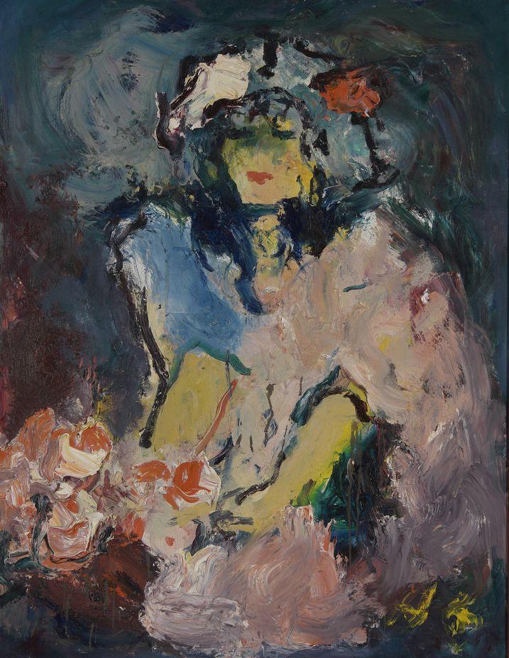 11. Нежность (Дама в розовом боа). 2003. Холст, масло. 90х70