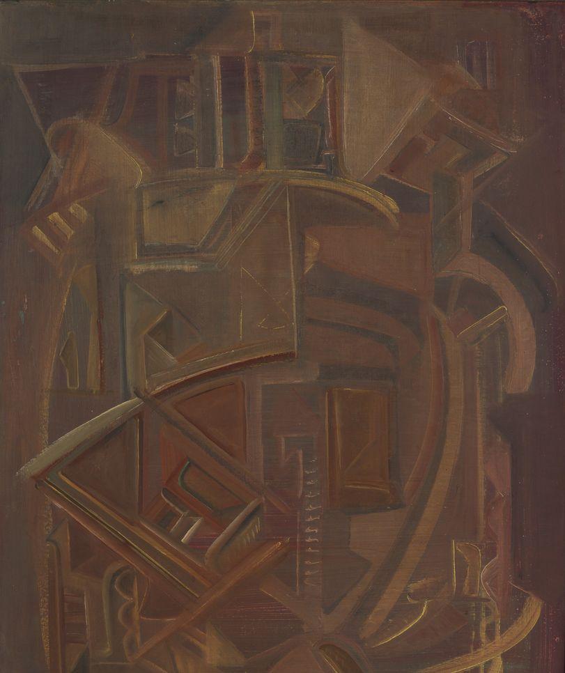 2. Ежедневное настоение. 1987. Доска, холст, левкас, темпера. 100х75