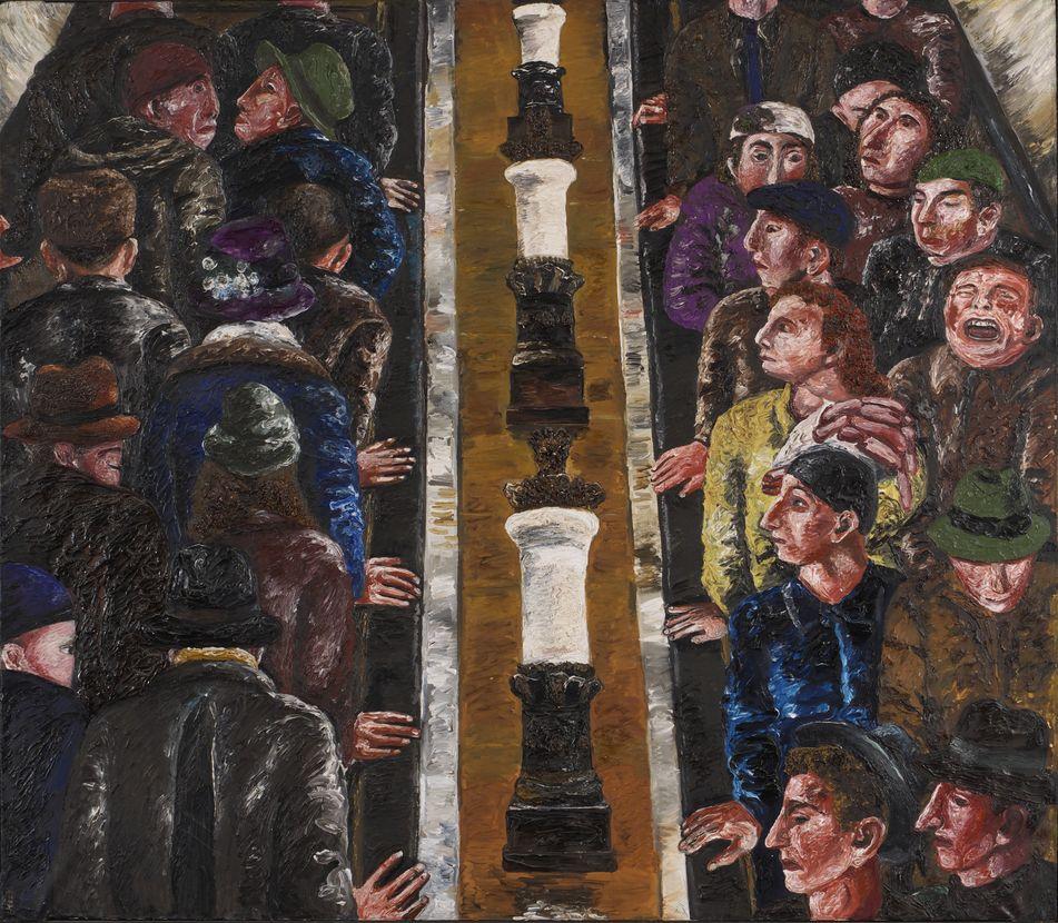 29. Эскалатор. 1988. Холст, масло. 140х160
