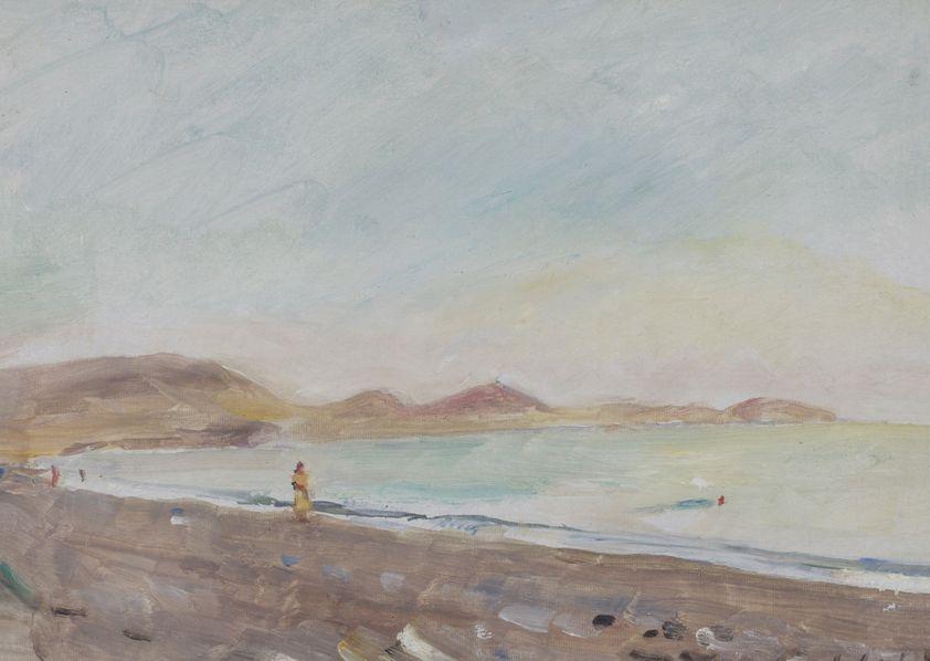 3. Коктебель. Холмистый берег. 1954. Картон, масло. 23,5х31,5