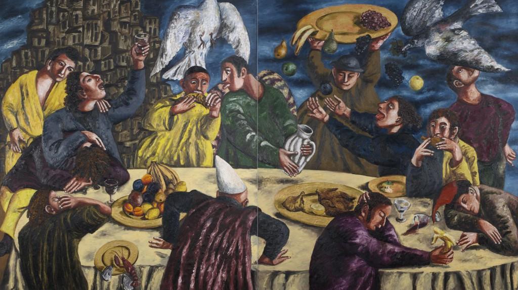 33. Пир во время чумы. 1993. Холст, масло. 180х160