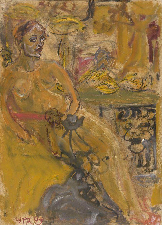 4. Венера с куропатками. 1999. Холст, масло. 70х50