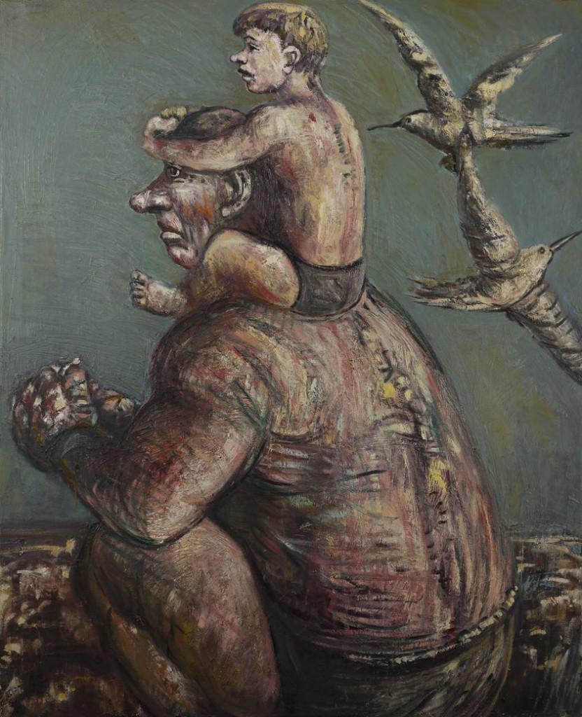 4. Старик и мальчик. 1997. Холст, масло. 135х110