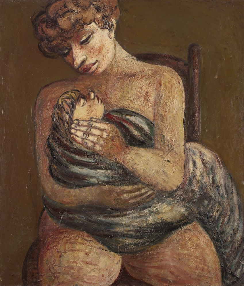 6. Мать и дитя. 1993. Холст, масло. 125х107