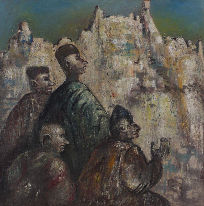 8. Иерусалим. 1999. Холст, масло. 130х130