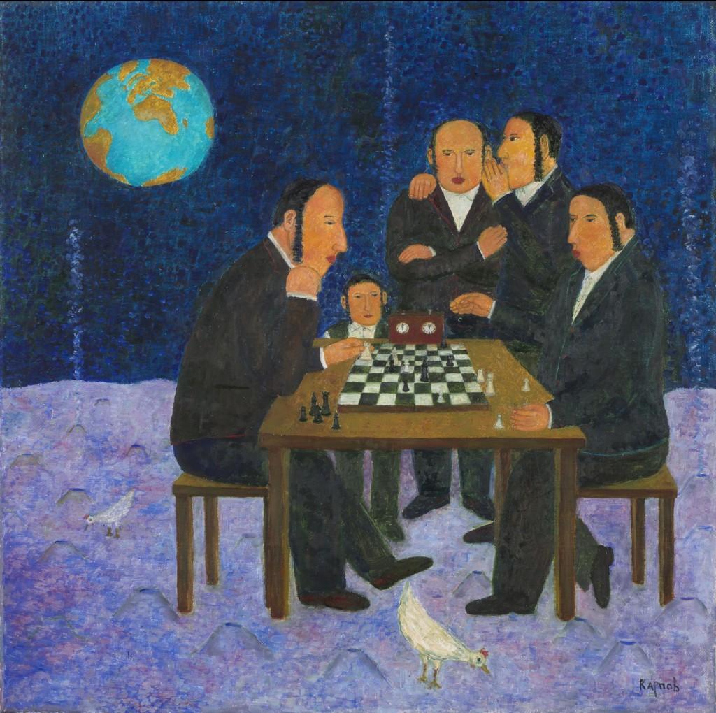 8. Шахматы на Луне. 2010. Холст, масло. 70х70