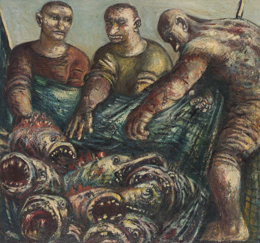 9. Чудесный улов. 1997. Холст, масло. 117х125