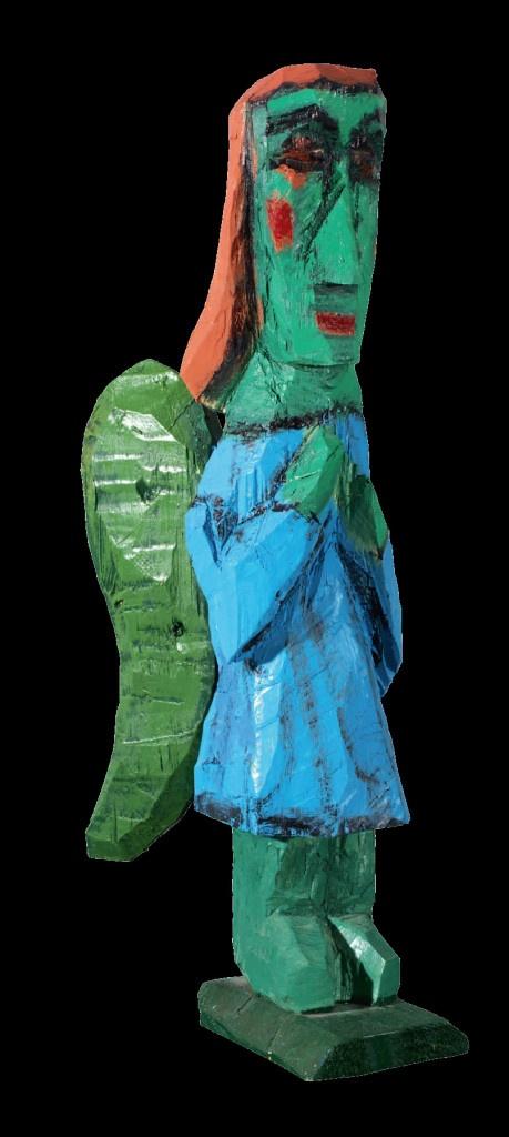 Из серии «Ангелы. Скульптуры». 2006–2013. Дерево, масло. 60х16х30
