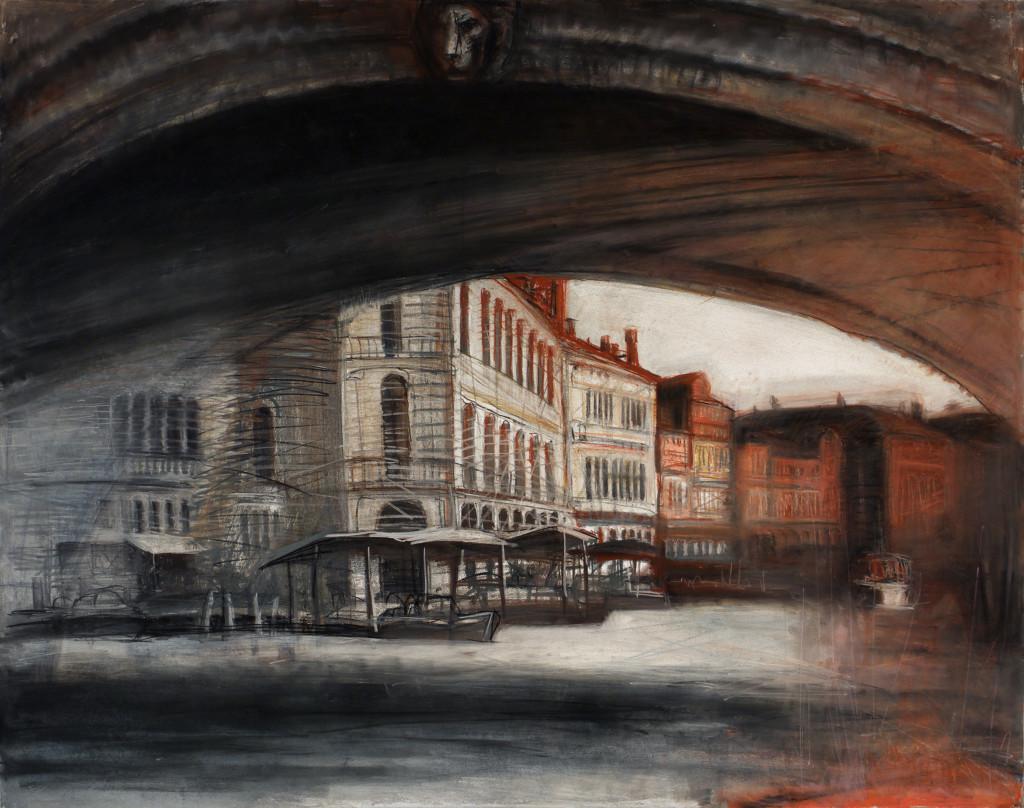 Венеция. Мост Риальто. 2015. Бумага, смешанная техника. 130х163