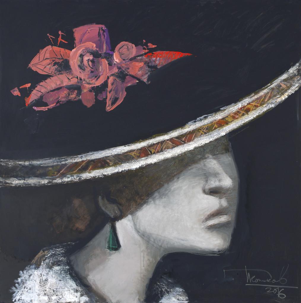 Дамы и кавалеры. Фрагмент №2. 2016. Оргалит, авторская техника. 130х130