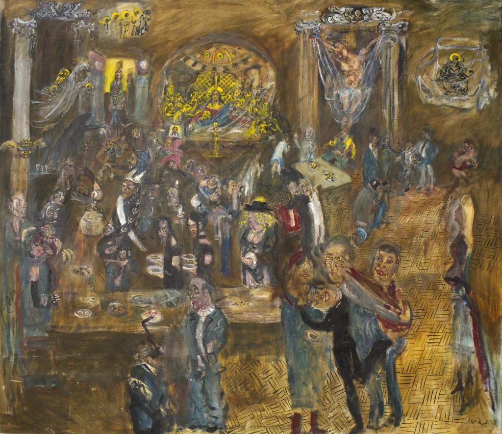 Сокровище музея архитектуры. 2000-е. Холст, масло. 178х200