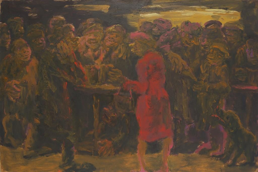Красная дама. 1994. Холст, масло. 130х195