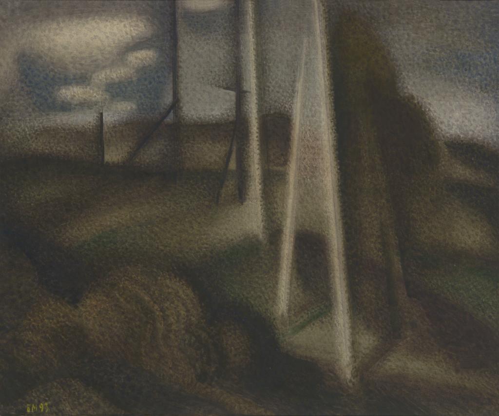 Натюрморт с хлебом и бутылкой. Глазуново. 1986. Бумага, акварель. 42х51