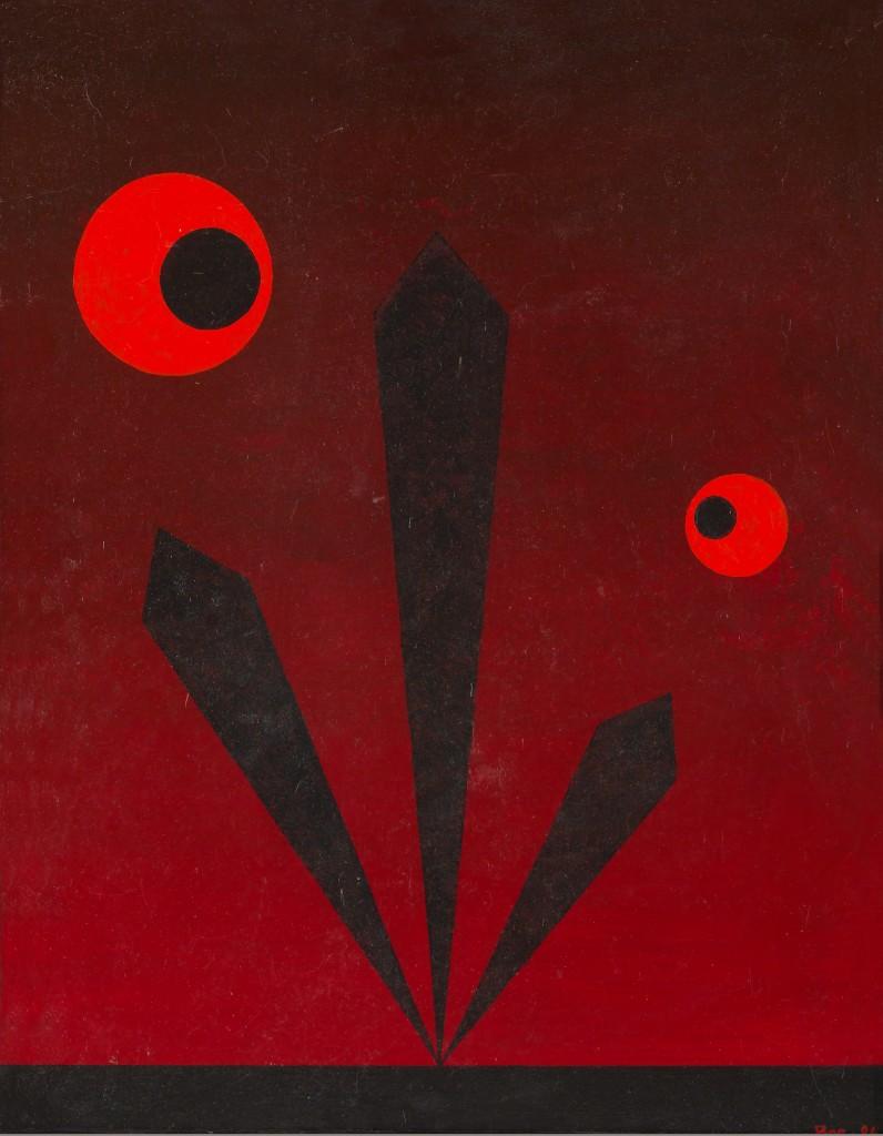 Время красных планет. 1986. Оргалит, масло. 57,3х45,3